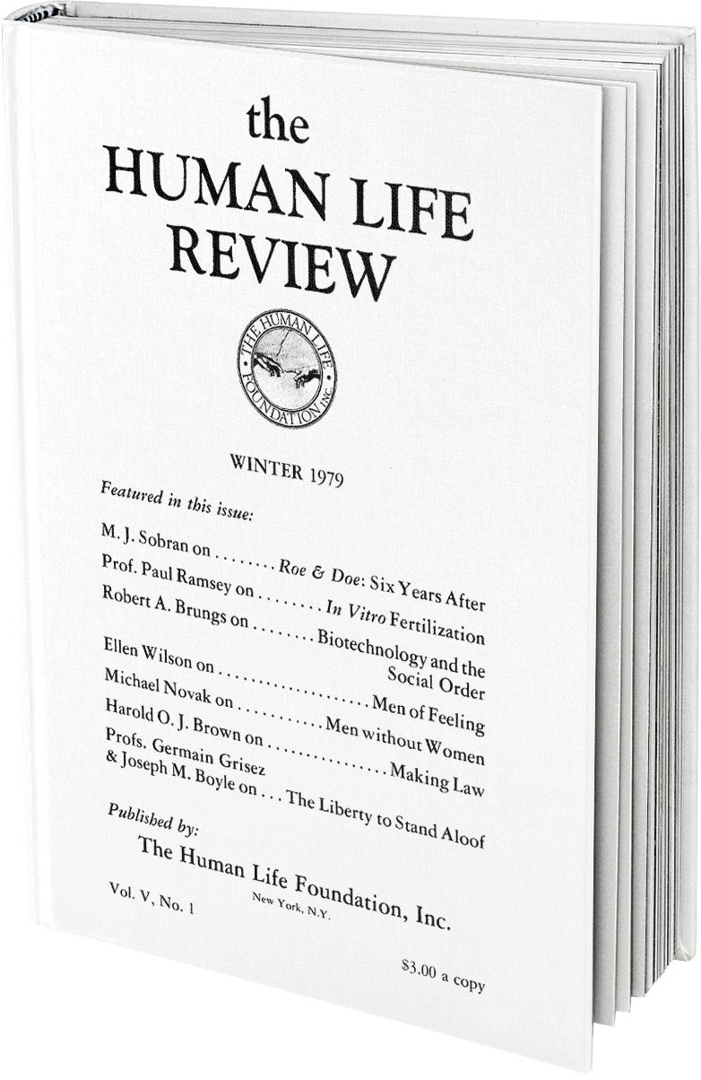 The Human Life Review Winter 1979 The Human Life Review