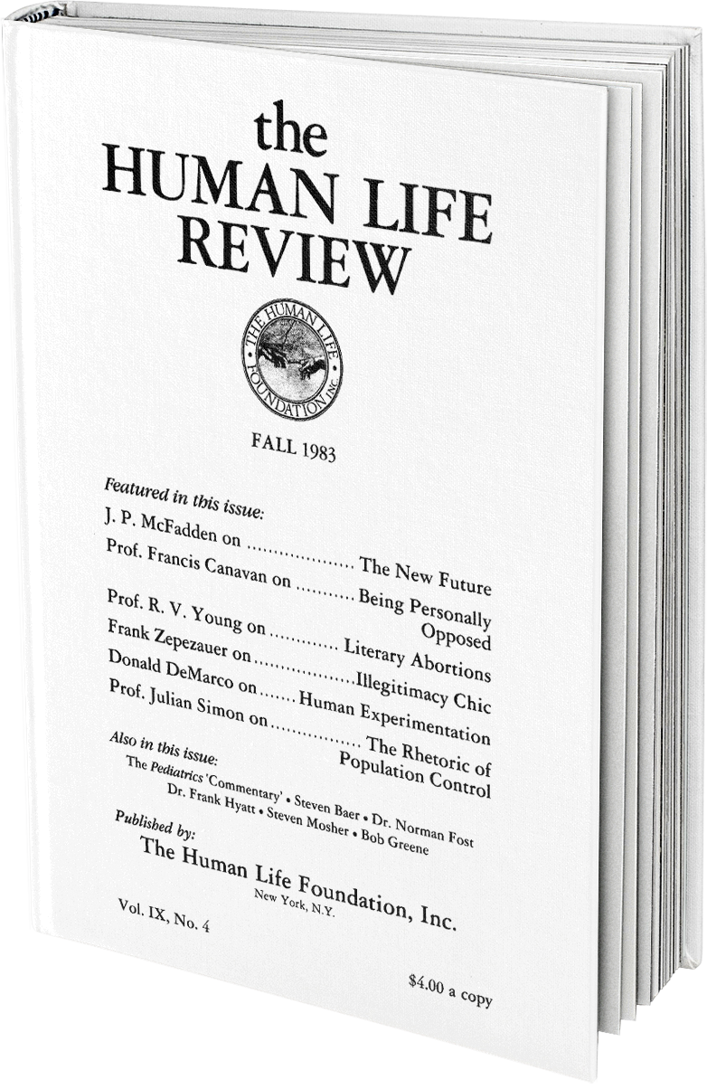 The Human Life Review Fall 1983 The Human Life Review