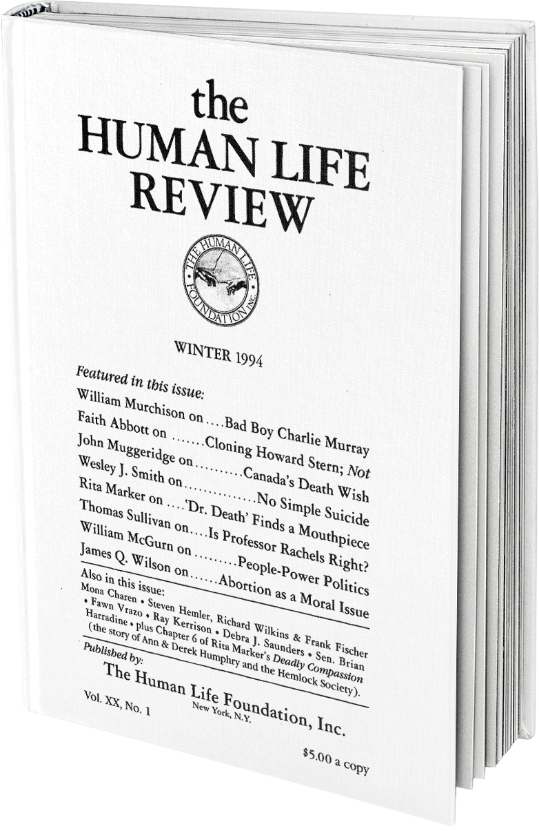 The Human Life Review Winter 1994