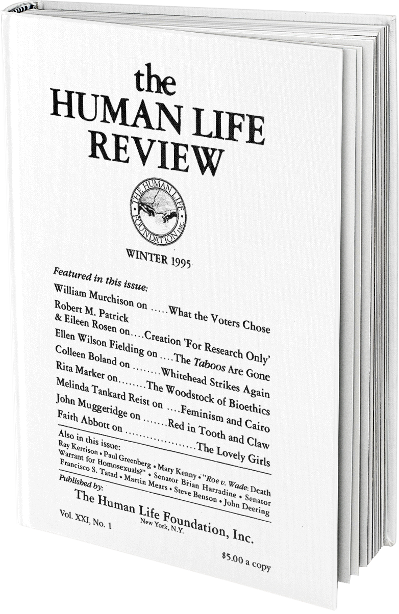 The Human Life Review Winter 1995 The Human Life Review