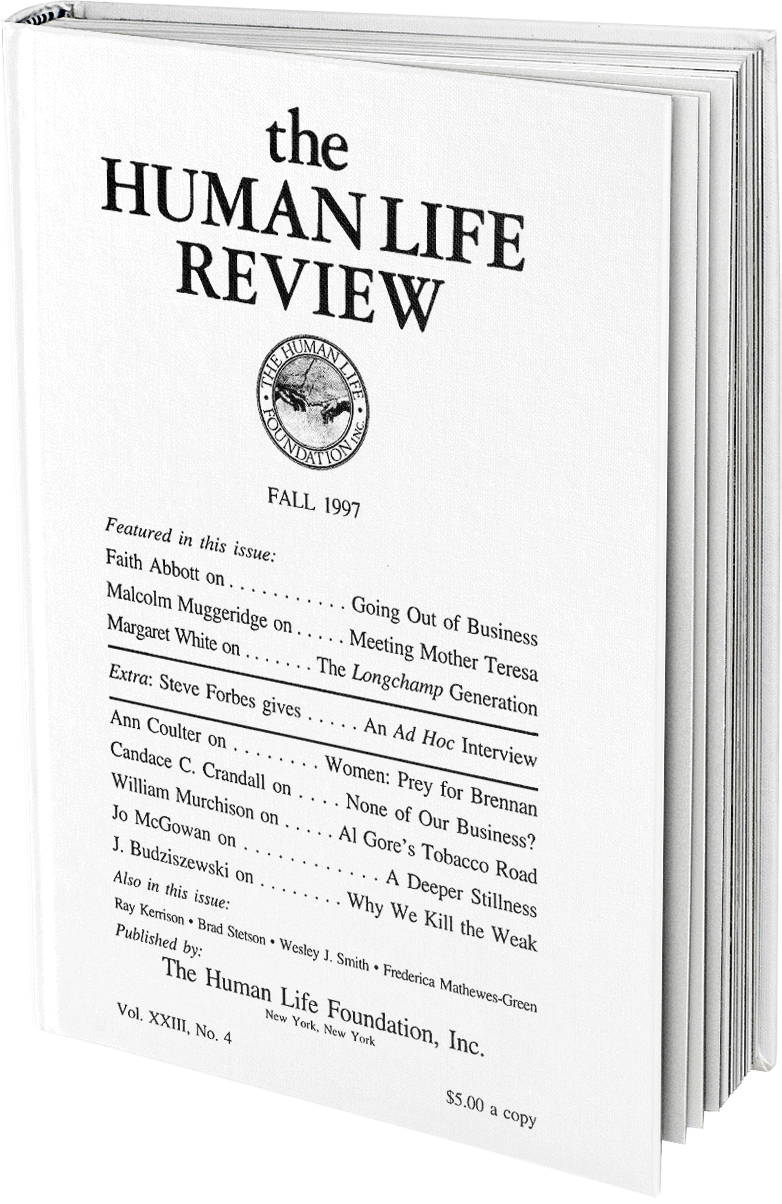 The Human Life Review Fall 1997 The Human Life Review