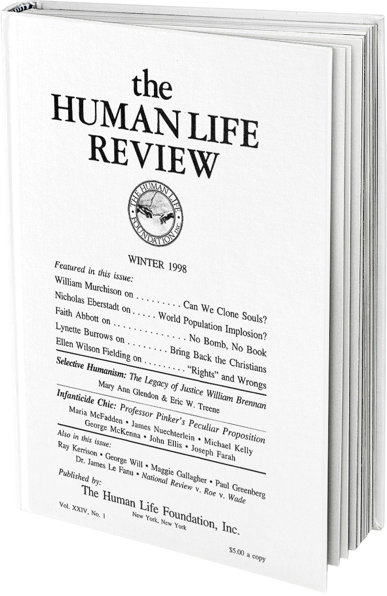 The Human Life Review Winter 1998 The Human Life Review